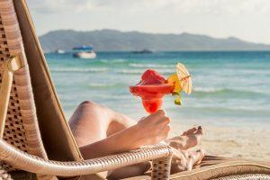 young beautiful woman enjoying summer vacation, beach relax, sun