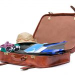 suitcase with travel gear